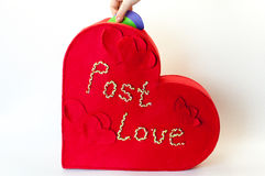 Red box of love letters Stock Photo