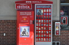 Red Box Movies Royalty Free Stock Photo