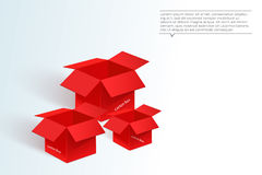 Red box for packaging Royalty Free Stock Photo