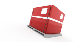 Red box on palette rendered isolated. On white background royalty free illustration