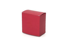 Red box. Paper box isolated on white background Stock Images