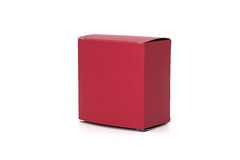 Red box. Paper box isolated on white background Stock Photo