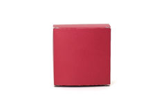 Red box. Paper box isolated on white background Stock Photos
