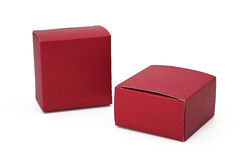 Red box. Paper box  on white background Stock Image