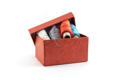 Red box for thread Royalty Free Stock Images