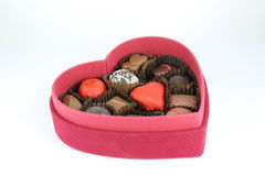 Red box of valentine Stock Images