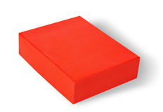 Red box on white Stock Photos