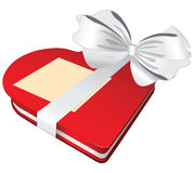 Red box white bow Stock Photos
