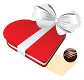 Red box white Chocolate cand Royalty Free Stock Image