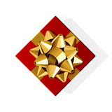Red Box With Gold Bow Royalty Free Stock Photo