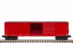 Red Boxcar Stock Photo