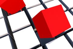 Red Boxes Royalty Free Stock Images