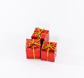 Red Boxes Of Gifts Stock Images