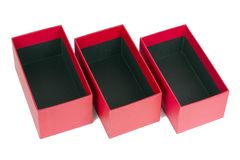 Red boxes Royalty Free Stock Photos