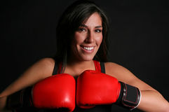 Red Boxing Beauty Royalty Free Stock Image