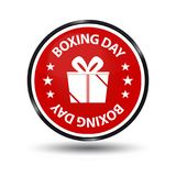 Red Boxing Day Glossy Button. Vector Illustration Isolated On White Background vector illustration