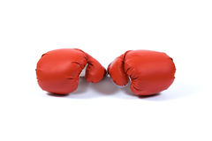 Red boxing glove. On white background Royalty Free Stock Photo