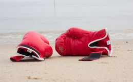 Red boxing glove Stock Image