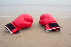 Red boxing glove Stock Photography