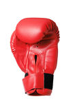 Red boxing-glove. (isolated) Royalty Free Stock Photography