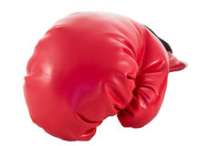 Red boxing glove Royalty Free Stock Image