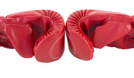 Red boxing glove. Isolated on white background Royalty Free Stock Photos