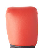 Red boxing glove's fragment Royalty Free Stock Photography
