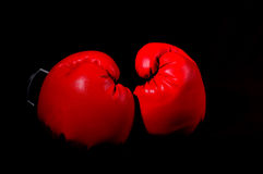 Red Boxing Gloves. With a low key/black background Royalty Free Stock Images