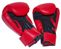 Red boxing gloves Royalty Free Stock Image