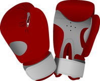 Red boxing gloves. Illustration Royalty Free Stock Image