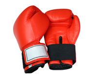 Red Boxing Gloves. Separated on white Royalty Free Stock Photography