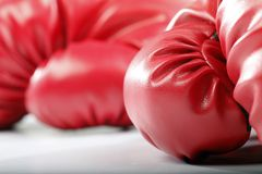 Red Boxing Gloves stock photography