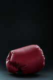 Red boxing gloves on black Stock Image