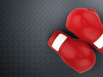 Red boxing gloves royalty free stock photography