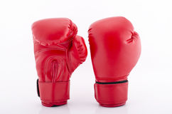 Red Boxing gloves isolated with white blackground Stock Image