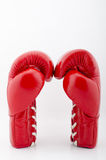 Red Boxing gloves isolated with white blackground Royalty Free Stock Photos