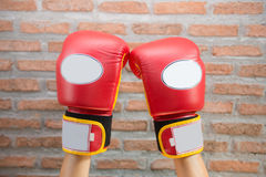 Red Boxing Gloves Royalty Free Stock Photo