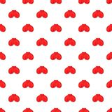 Red boxing gloves pattern, cartoon style. Red boxing gloves pattern. Cartoon illustration of red boxing gloves vector pattern for web Royalty Free Stock Photos