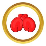 Red boxing gloves vector icon Royalty Free Stock Image