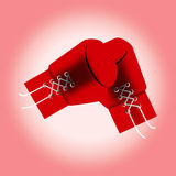 Red boxing gloves. vector illustration. Royalty Free Stock Photos