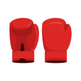 Red boxing gloves on a white background. Sports Accessory  Royalty Free Stock Images
