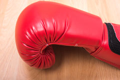 Red boxing gloves Stock Images