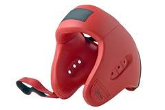 Red boxing helmet Stock Photo