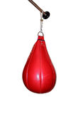 Red boxing pear. On a white background royalty free stock photos