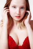 Red bra Royalty Free Stock Photo