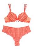 Red bra and pantie Royalty Free Stock Photos