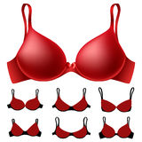 Red bra set Royalty Free Stock Photo