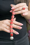 Red bracelet Royalty Free Stock Images