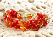 Red bracelet Royalty Free Stock Photos