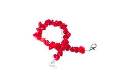 Red bracelets Royalty Free Stock Images